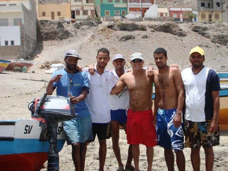 After a training swim, Cape Verde, Africa 2012