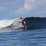David surfing in Sumatra, Indonesia 2011
