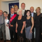 David and Beth with family at the International Swimming Hall of Fame Ceremony September 2014