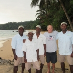 David Yudovin with the Sao tome swim boat crew